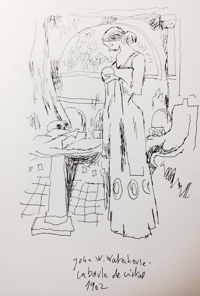 """""""La boule de cristal"""" de John W. Waterhouse, revu par Joann Sfar"""