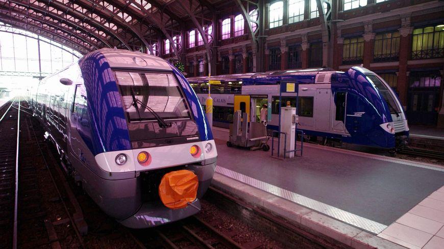 Un TER en gare de Lille Flandres