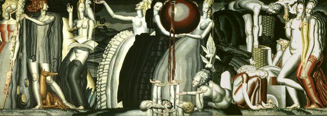 La Vigne et le Vin 1925,  Jean Dupas (1882-1964) - huile sur toile / 306x840 - Musée d'Aquitaine, Bordeaux