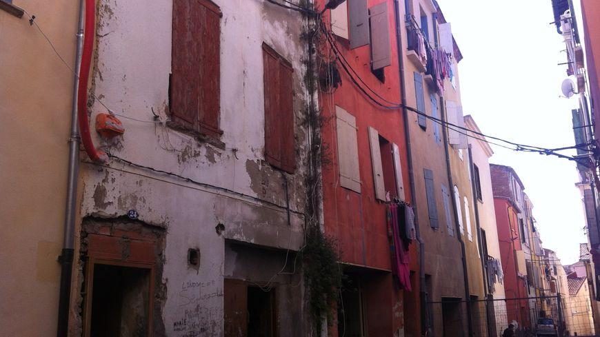Un immeuble du quartier Saint-Jacques de Perpignan menace de s'effondrer
