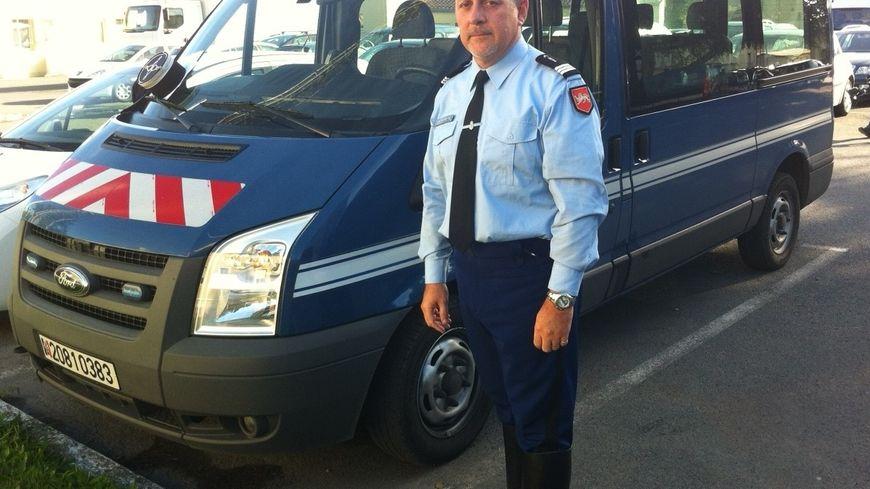 Le commandant en second de l'escadron départemental de sécurité routière de Dordogne