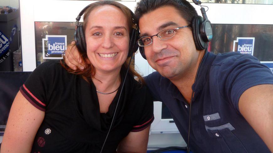 Nathalie Coursac et Médéric Gasquet-Cyrus, lors du 1er AïoLive à la Foire de Marseille en septembre 2013.