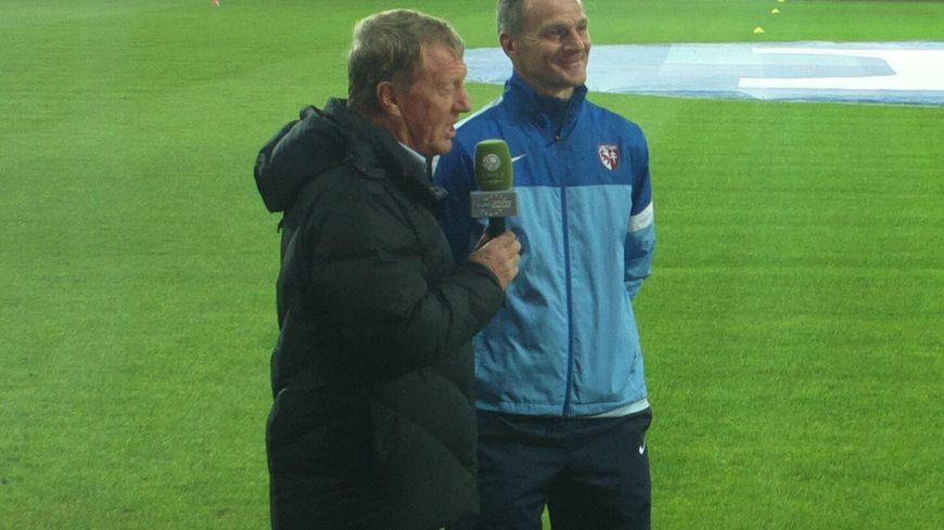 Albert Cartier (FC Metz) et Alex Dupont (stade brestois)