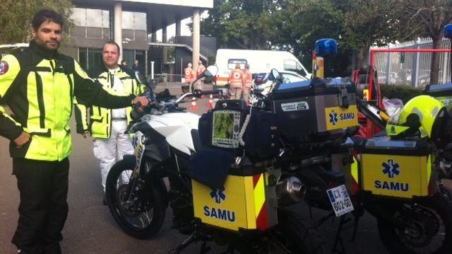 Les nouvelles motos du Samu 92