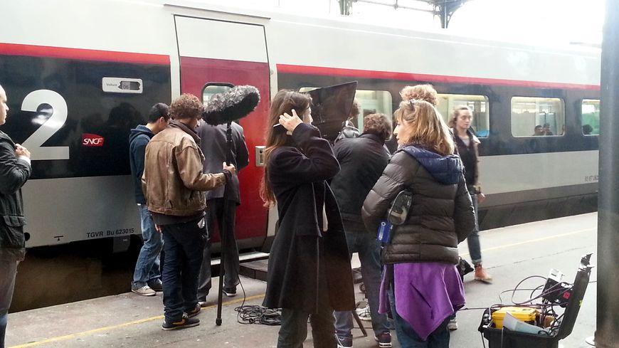 tournage 3 coeurs quai gare