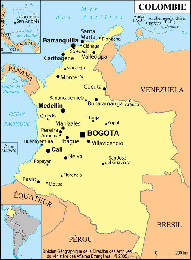 Carte de la Colombie