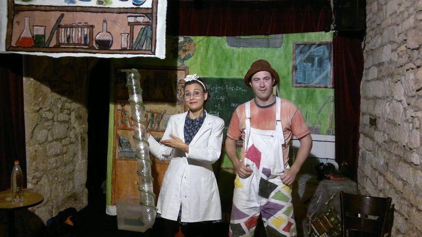 Céline Spang et Richard Malègue, alias Professeur Arythm' et Cousin Pantoufl'