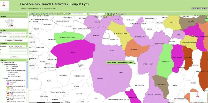 Carte du loup 2013
