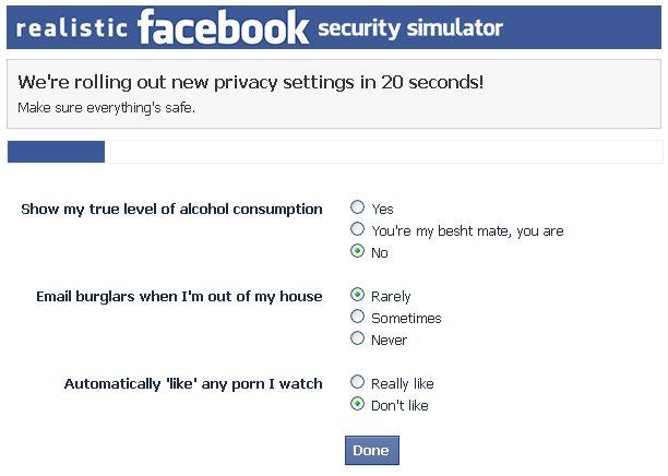 Un jeu parodie les paramètres de confidentialité de Facebook