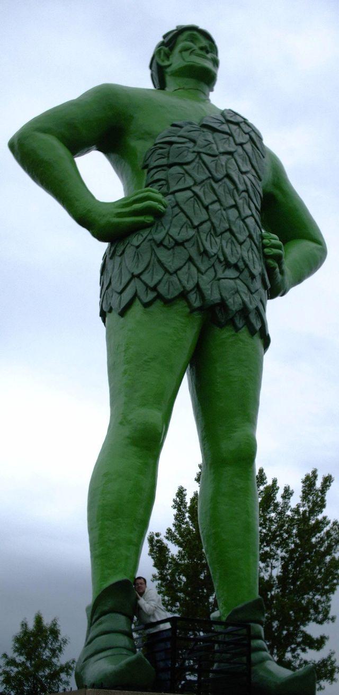 Statue du Géant Vert à Blue Earth (Minnesota, États-Unis).