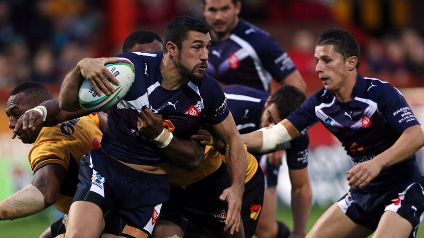 Frédéric Vaccari, joueur des Dragons Catalans et de l'équipe de France de rugby à XIII