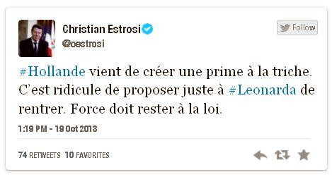 Tweet Estrosi