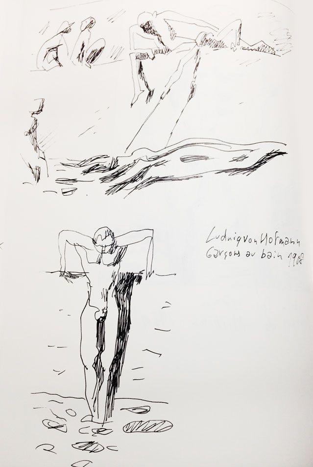 """""""Garçons au bain"""" de Ludwig Von Hofmann (1908), revisité par Joann Sfar"""