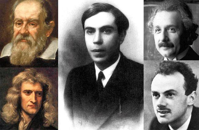 Génies de la physique: Galliée, Newton, Majorana, Einstein et Dirac