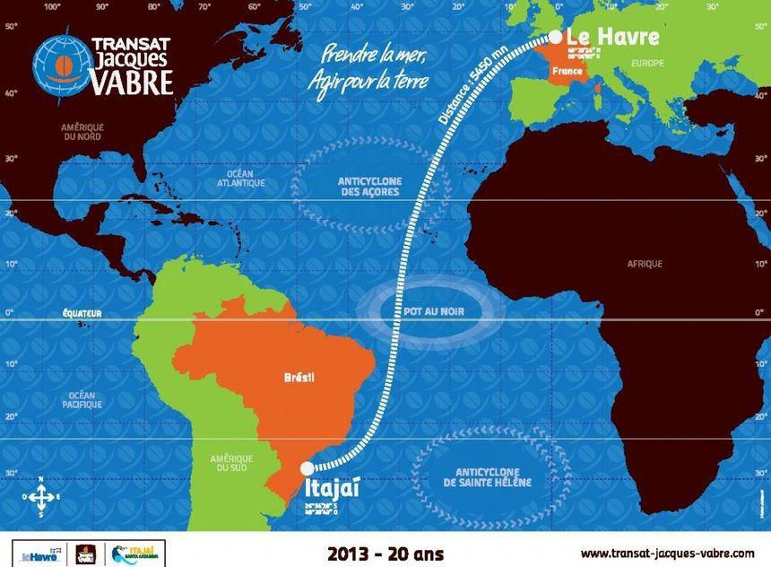 Le parcours de la Transat Jacques Vabre