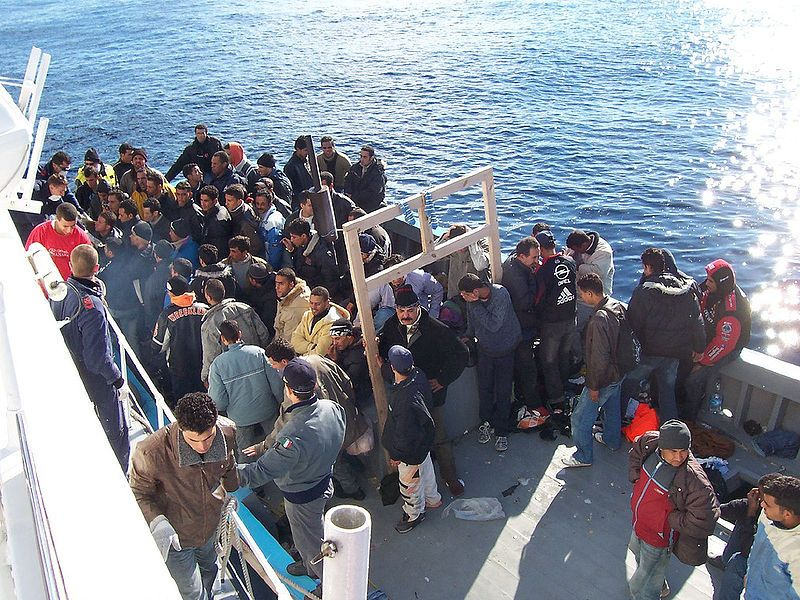 Immigrati, Lampedusa, 7 janvier 2006