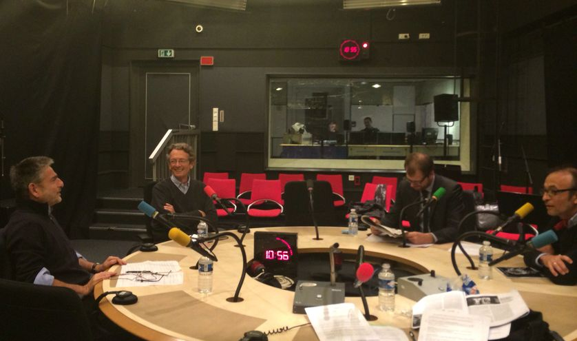 Julian Fernandez, Antoine Glaser et Jean-Christophe Servant au studio 108