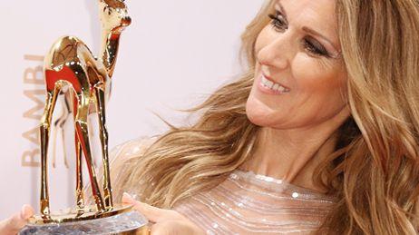 Céline Dion reçoit le Bambi Award en novembre 2012