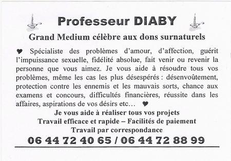 Flyer de marabout/Professeur Diaby à Rennes