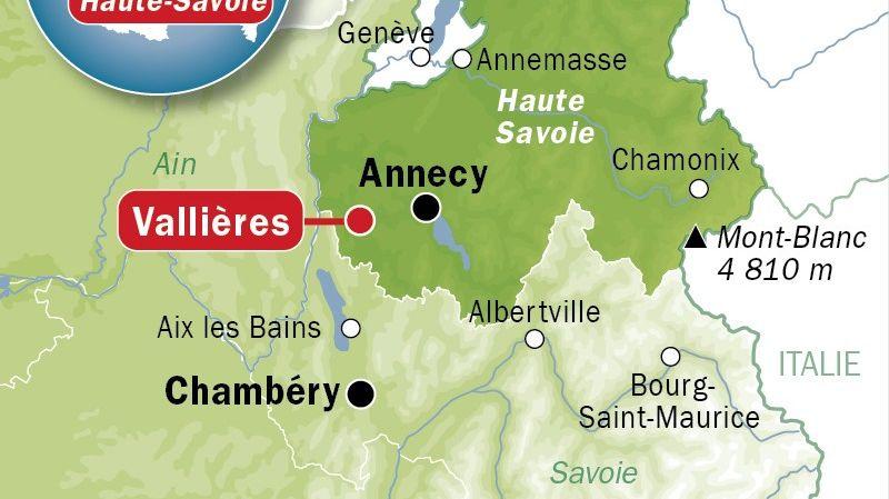 CARTE Vallières en Haute-Savoie.