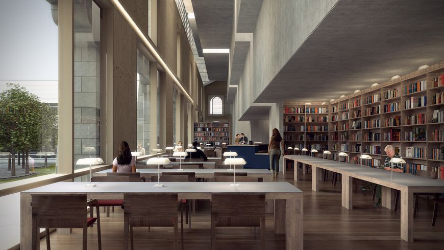 Intérieur Archives municipales de Bordeaux