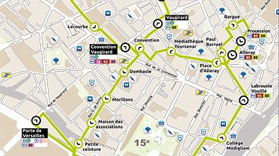un nouveau bus lectrique dans le 15 me arrondissement de. Black Bedroom Furniture Sets. Home Design Ideas
