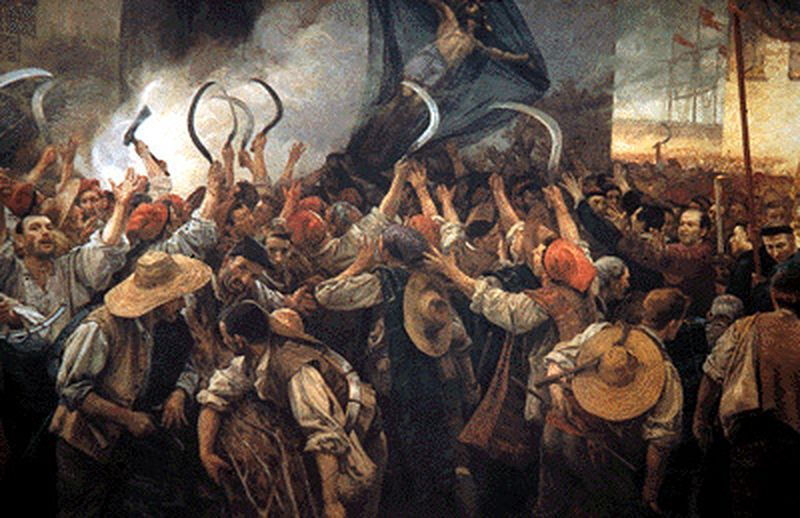 """Corpus de Sang"", toile d'Antoni Estruch i Bros, 1907"