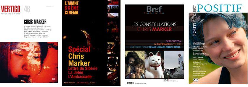 Montage couvertures des magazines spécial Chris Marker