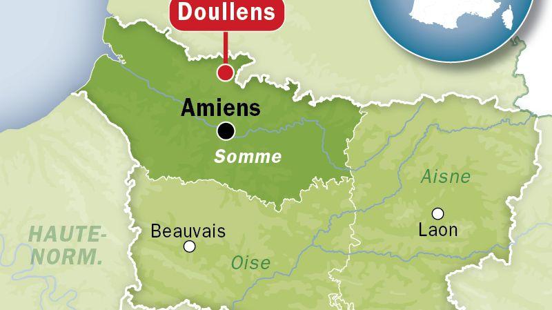 Carte de localisation : Doullens dans la Somme - agencé Idé
