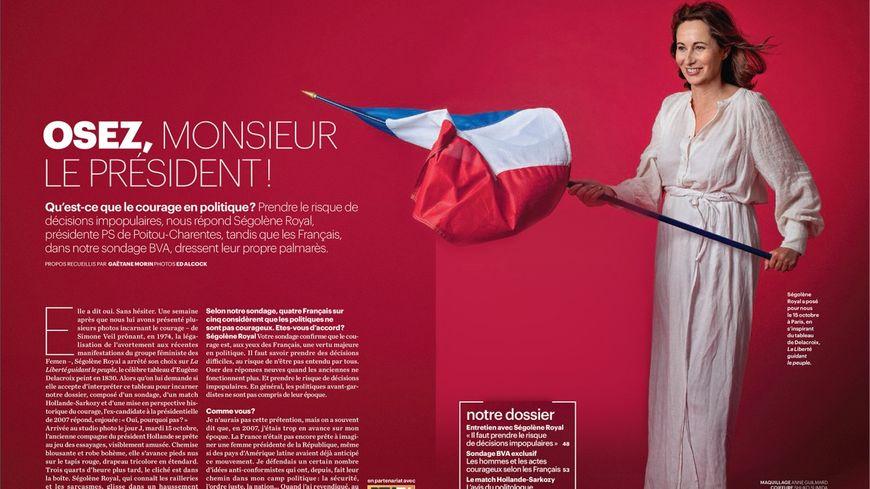 Pour Le Parisien Magazine, Ségolène Royal a décidé de poser en Liberté guidant le peuple
