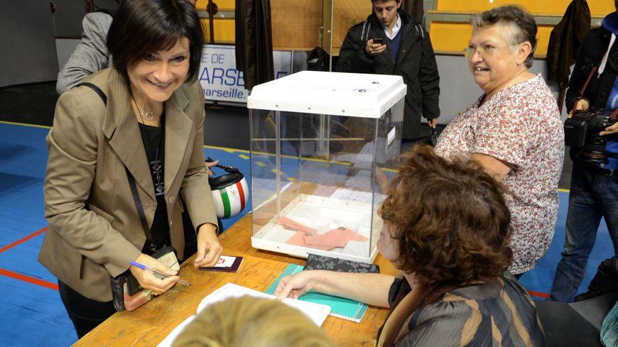 Marie-Arlette Carlotti lors des élections municipales 2014