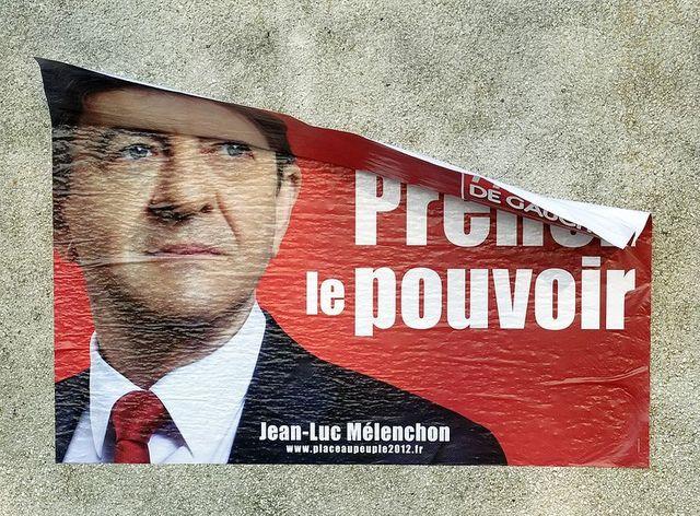 Affiche du Front de Gauche de Jean-Luc Mélenchon