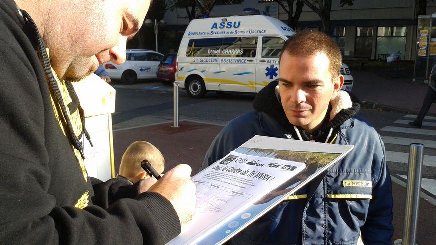 Mobilisation des Postiers à Firminy