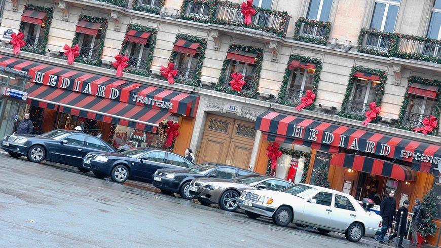 La boutique Hédiard située place de la Madeleine, à Paris