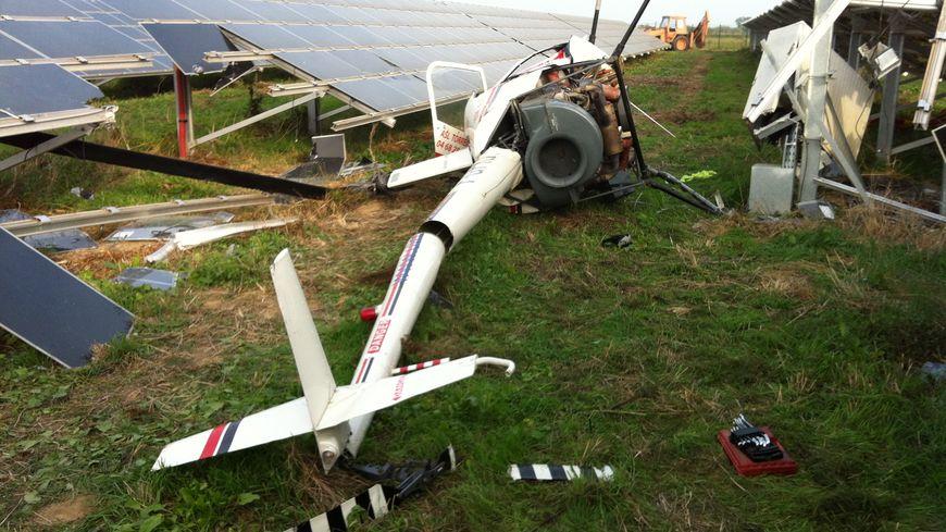 L'hélicoptère s'est crashé au beau milieu de la centrale solaire de Torreilles