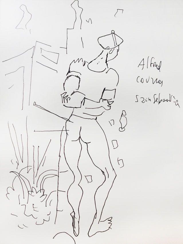 """""""Saint Sébastien"""" d'Alfred Courmes (1934 ), revfisité par Joann Sfar"""