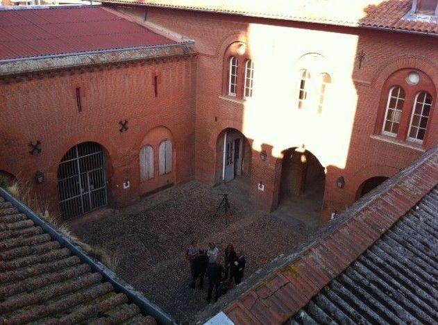 La cour de l'ex prison Saint-Michel à Toulouse vue d'en haut