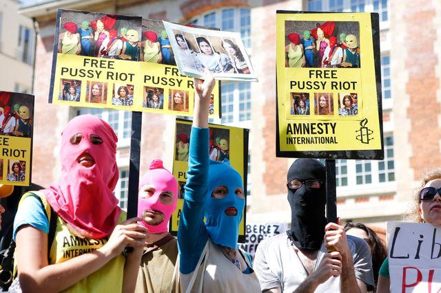 Manifestation pour la libération des Pussy Riot