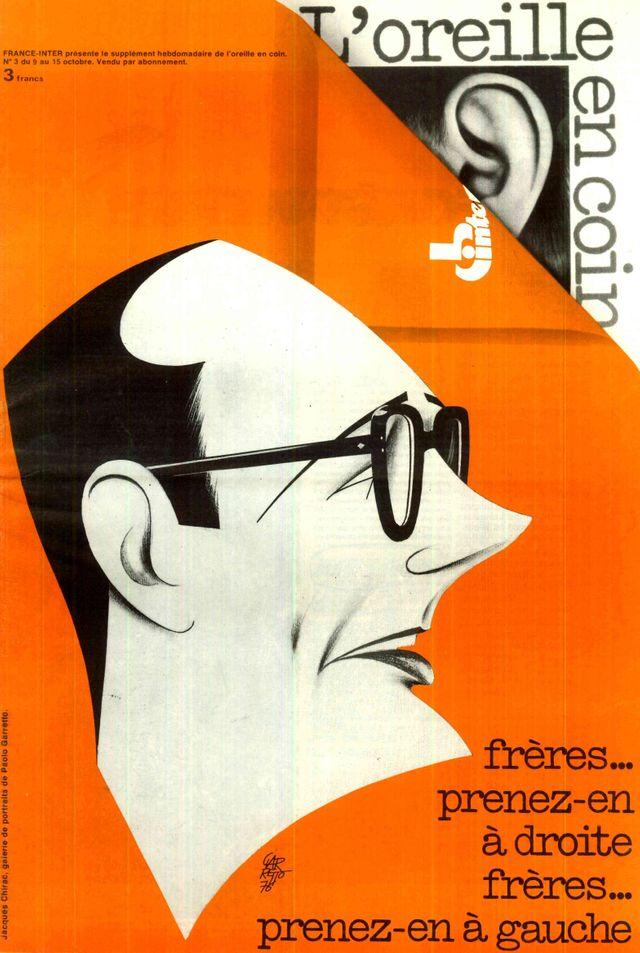 Chirac Oreille en Coin Illustration 1976