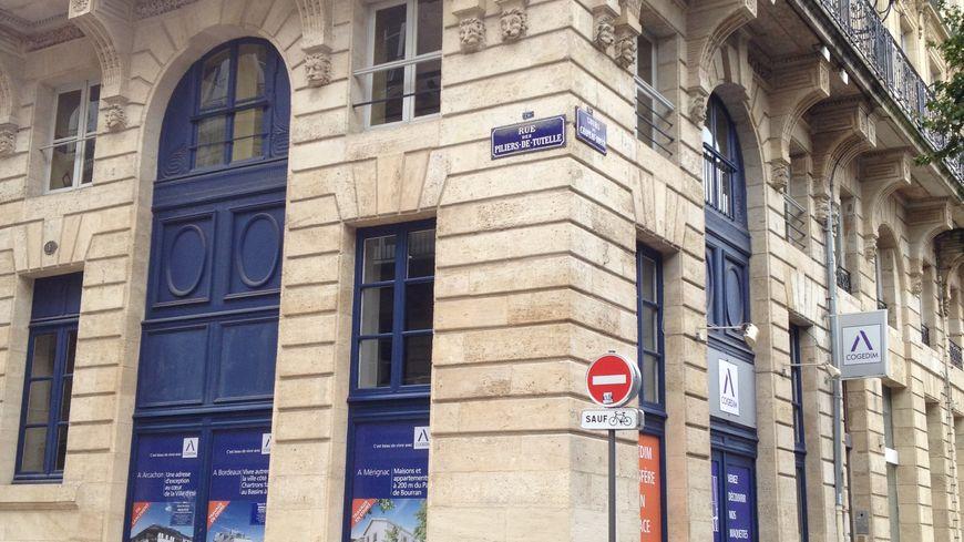 La future permanence de campagne d'Alain Juppé pour les municipales à Bordeaux.