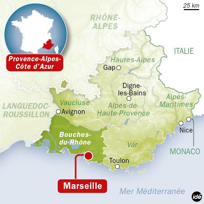 Carte de localisation de Marseille