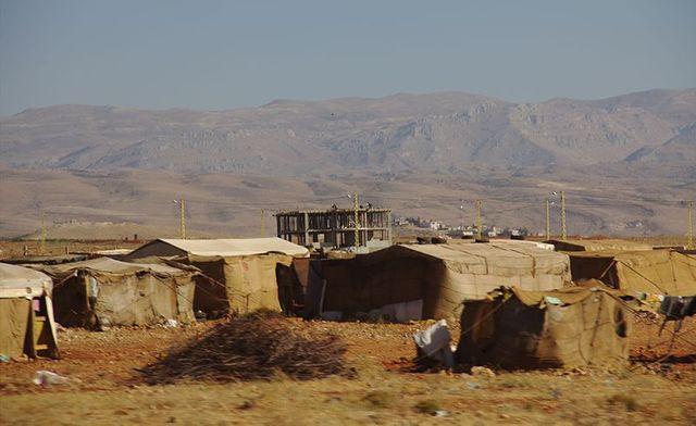 Camps de réfugiés à la frontière libanaise