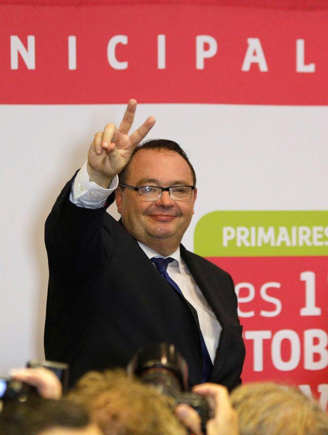 Patrick Mennucci à la fédération socialiste après sa victoire à la primaire