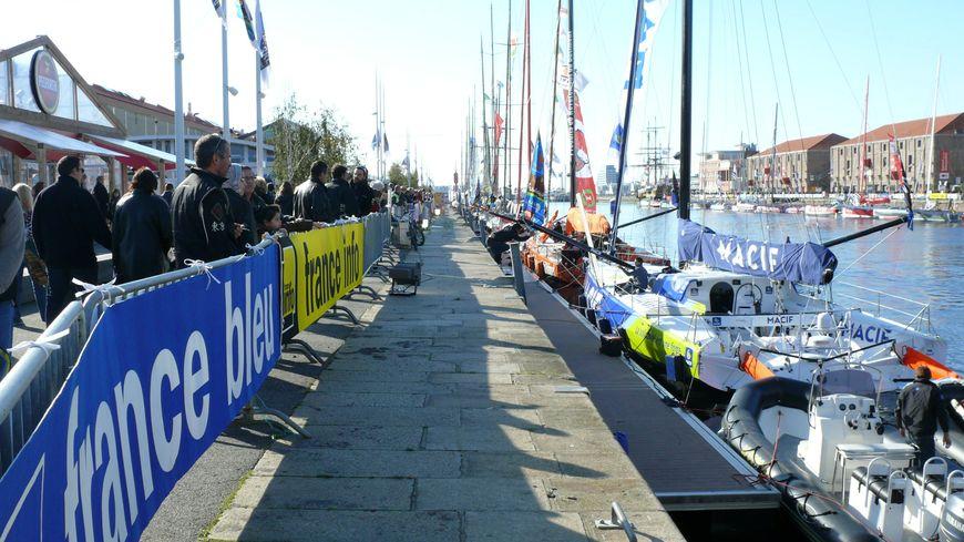 Les skippers et leurs bateaux seront tous présents dans le bassin Paul Vatine à partir du 26 octobre 2013.