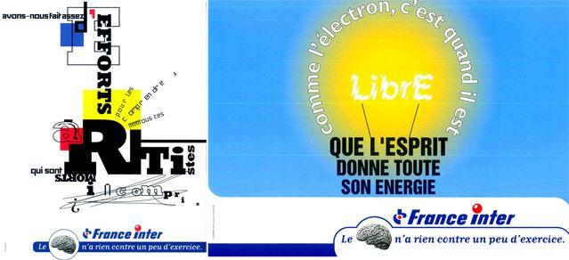 Campagne 1999 - le cerveau...- France Inter a 50 ans