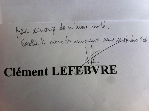 Dédicace Clément Lefebvre