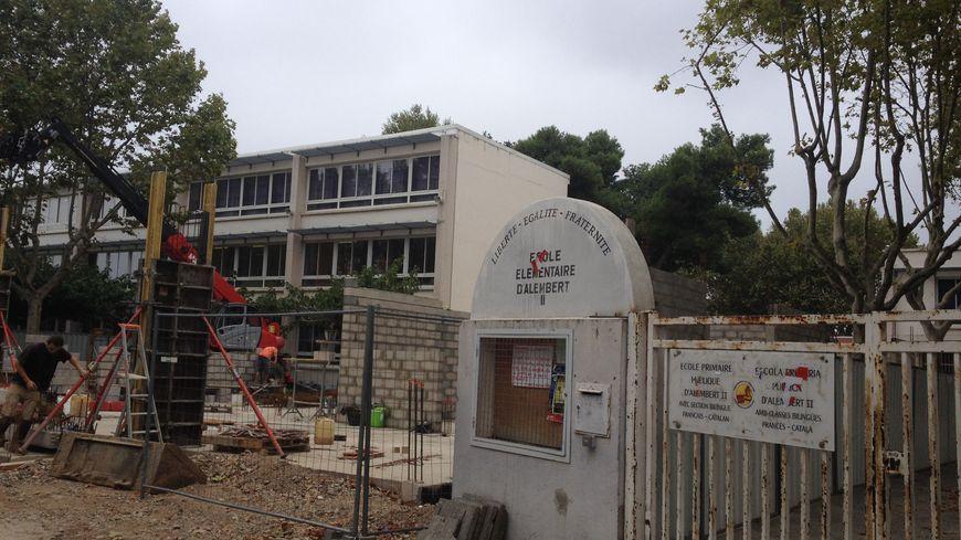 L'école d'Alembert à Perpignan en plein travaux