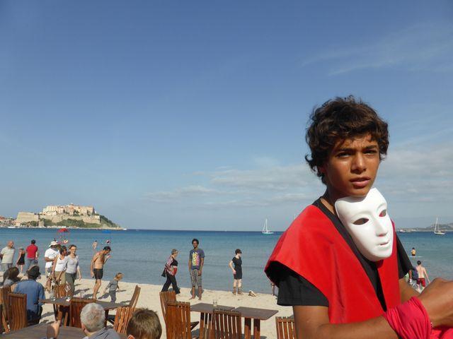 Sur la plage lors du Festiventu