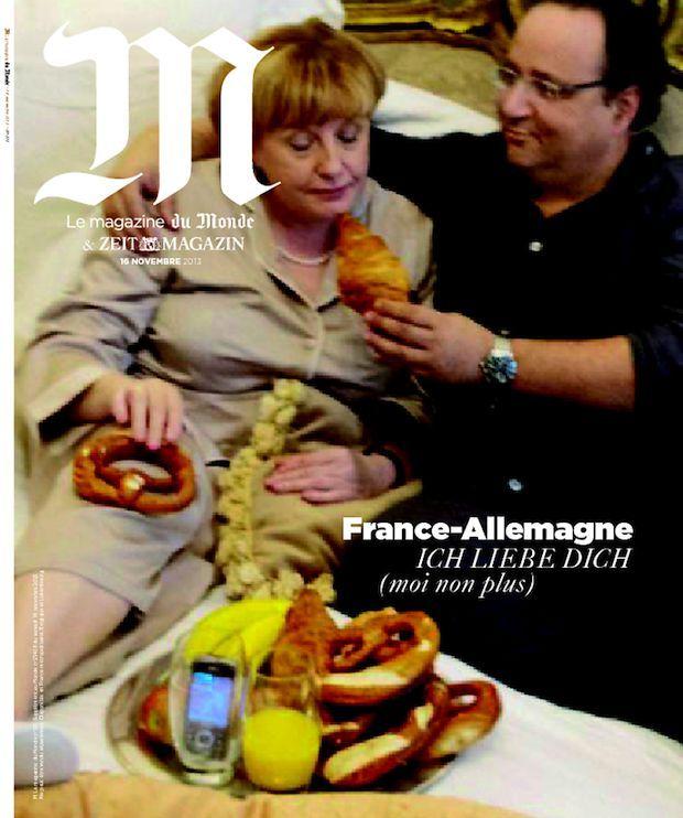 La Une de M, le magazine du Monde (couple franco-allemand)