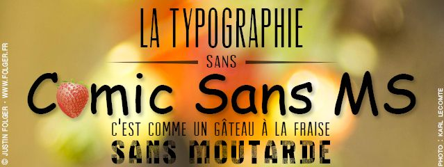 Justin Folger Typographie